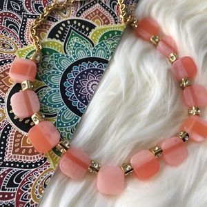 Kate Spade ♠️Pink Colorblock Necklace NWT